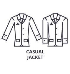 casual jacket line icon outline sign linear vector image vector image