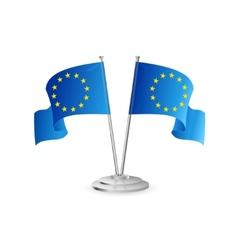 European union table flag isolated vector image