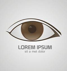 Eye brown logo vector image