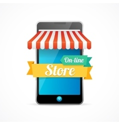 Phone Mobile Store On-line vector image vector image