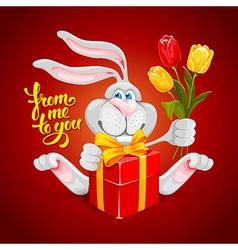Rabbit Valentin vector image vector image