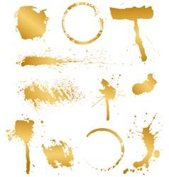 set of golden blots vector image vector image