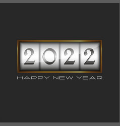 2022 logo happy new year display in gold frame vector
