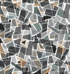 abstract dirty line textures seamless pattern vector image