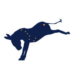 Alaskan democrat donkey flag vector
