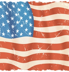 American flag theme torn grunge background vector