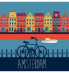 Amsterdam card vector