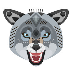 Angry wolf head logo decorative emblem vector