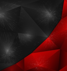background abstract polygon design vector image