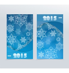Banners with a Blue Winter Background with vector image
