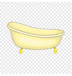 Bathtub icon in cartoon style vector