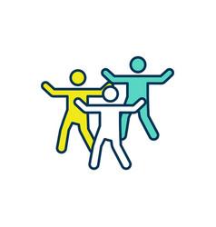 Body movement therapy rgb color icon vector