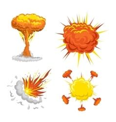 Bomb explosion effect vector