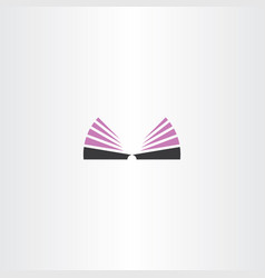 Bookstore logo library icon book symbol vector