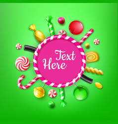 candy flat lay vector image