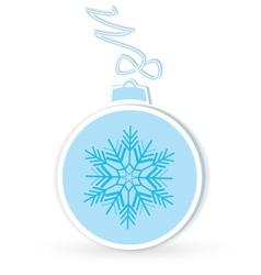 Christmas ball crafted vector image