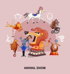 Circus cartoon composition vector