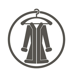 Cloth icon of woman coat vector
