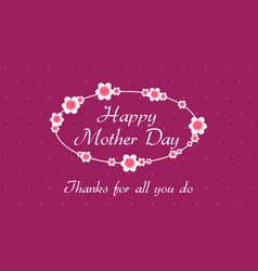 Collection of mother day style vector