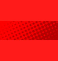 comic halftone dots background red color comic vector image