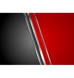 Contrast red black tech background vector