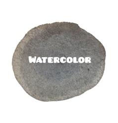 Dark gray spot abstract stylish watercolor vector