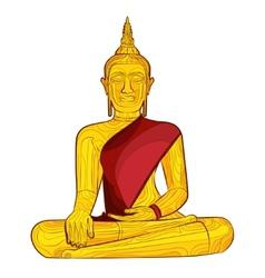 Decorative buddha statue vector