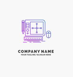 design graphic tool software web designing purple vector image
