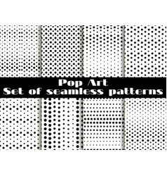 Dotted pop art seamless pattern background black vector