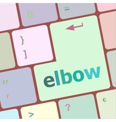 Elbow button on computer pc keyboard key vector