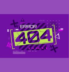 Error 404 web page design vector