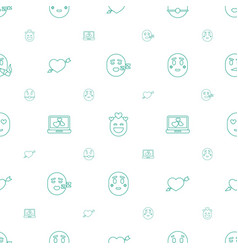 Feeling icons pattern seamless white background vector