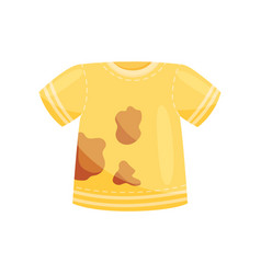 Flat icon of bright yellow t-shirt with vector