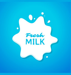 fresh milk splash vector image