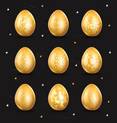 Golden egg icon vector