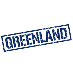 Greenland blue square stamp vector