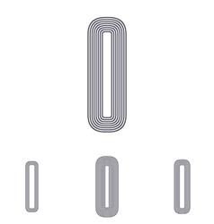 Grey letter i logo design set vector