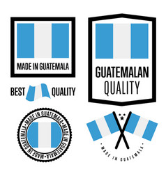 Guatemala quality label set for goods vector