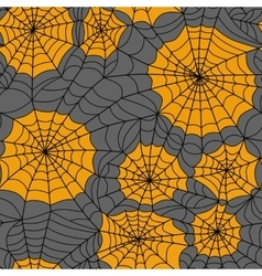 Halloween seamless background with web spider vector image