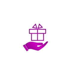 hand and gift icon vector image