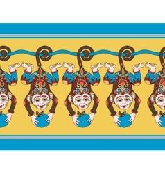 hang monkey seamless ribbon pattern vector image
