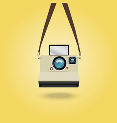 Hanging instant camera vector