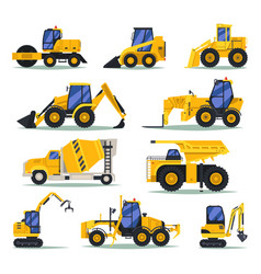heavy trucks or lorry auto for industrial work vector image