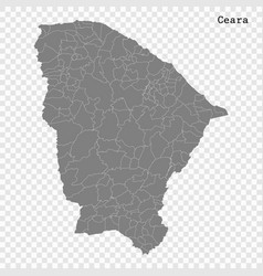 High quality mapstate brazil vector