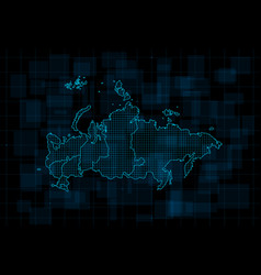 Hud map russian federation with federal vector