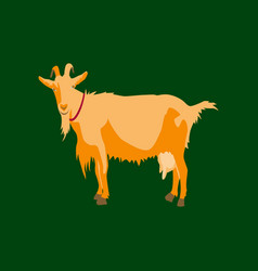 in flat style goat vector image