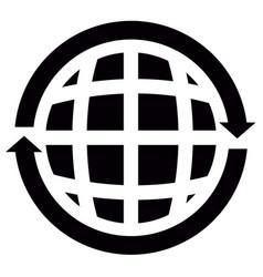 isolated globe icon vector image