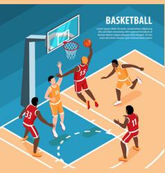 isometric basketball vector image
