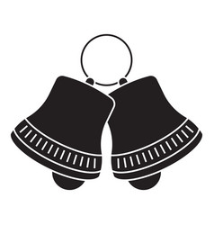 Jingle bell sleigh bells flat icon for apps vector
