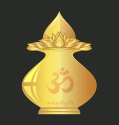 Kalasha also kalash or kalasa indian ritual pot vector